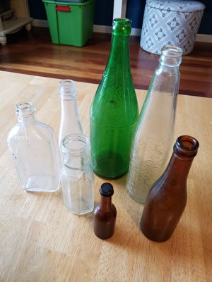 Vintage glass bottles for Sale in Gresham, OR
