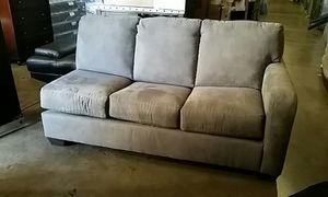 PLUSH Grey Herringbone Couch for Sale in Denver, CO