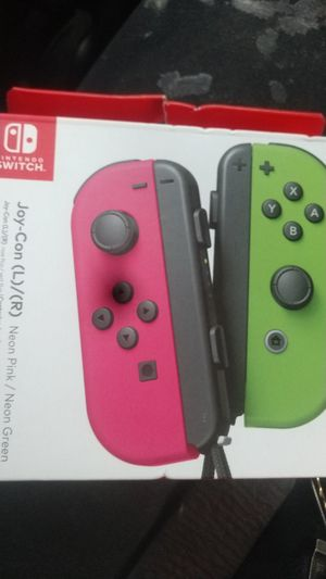 Nintendo Switch JoyCons (L/R) Pink/Green for Sale in Renton, WA