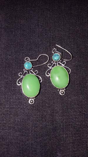Beautiful Jade and Sterling Silver Gemstone Earrings for Sale in Newport, TN