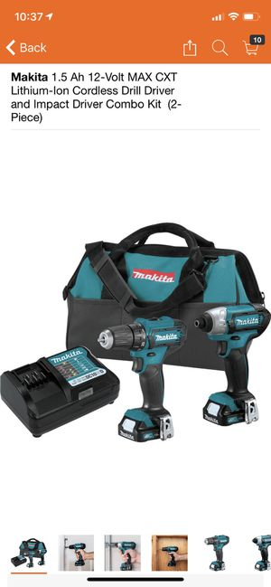Makita 1.5 Ah 12-Volt MAX CXT Lithium-Ion Cordless Drill Driver and Impact Driver Combo Kit (2-Piece) for Sale in Philadelphia, PA