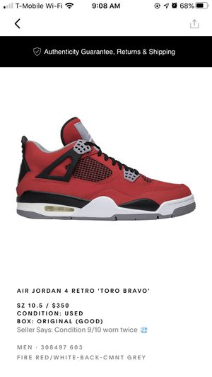 Air Jordan 4 Retro'Toro Bravo ' for Sale in Marietta, GA