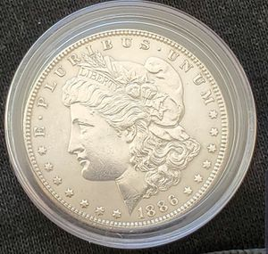 1886 P Mint State MS+++ Silver Morgan Dollar gorgeous Gem choice excellent luster and toning. for Sale in Las Vegas, NV