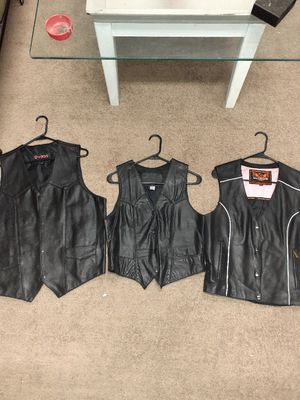 Leather motorcycle vest for Sale in Douglasville, GA