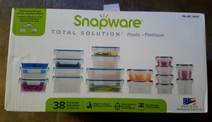 NEW 38 Piece Food Storage Containers Set Snapware Leakproof Plastic for Sale in Burlingame, CA