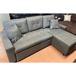 Gray Fabric Reversible Sleeper Sectional for Sale in Chula Vista,  CA