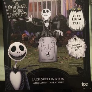 Disney Nightmare Before Christmas Inflatable Jack Halloween Lawn Decor for Sale in Chicago, IL