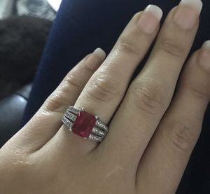 925 ruby red wedding ring for Sale in North Brunswick Township, NJ