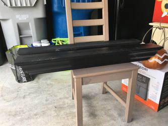 2 black wood floating shelves 36x5 in for Sale in Renton,  WA