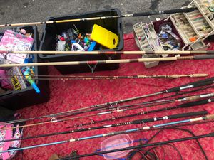 15 fishing poles for Sale in CRYSTAL CITY, CA