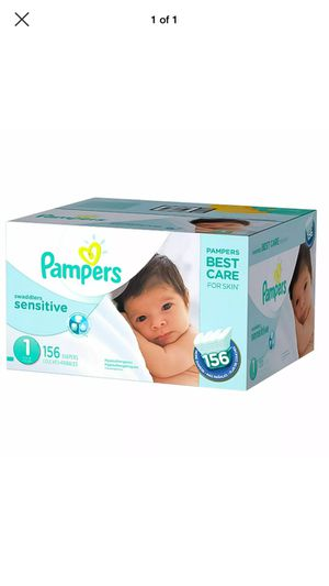 Pampers Swaddlers Sensitive Disposable Baby Diapers Newborn Size 1-156 (8-14 lb) for Sale in Lincoln, RI