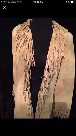 Wilson's Leather Tan Suede Trench Coat woman's size S with Fringe for Sale in Fishers, IN