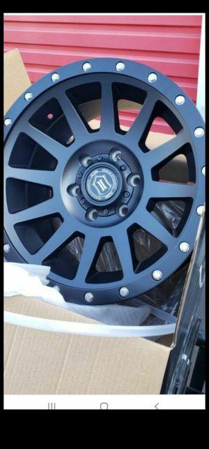 "4 New Icon Compression Wheels Rims 17"" Matte Black Chevy Toyota 6 lug for Sale in Moreno Valley, CA"