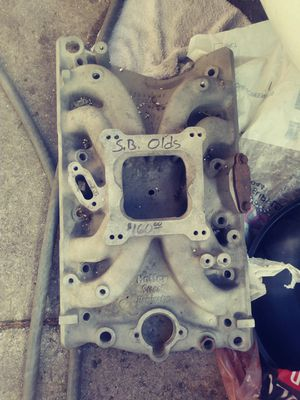Intake for small block Oldsmobile asking 160$ or trade for Sale in Calumet City, IL