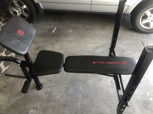 Marcy Club Weight Bench w/ 140 lbs weight set for Sale in Bell, CA