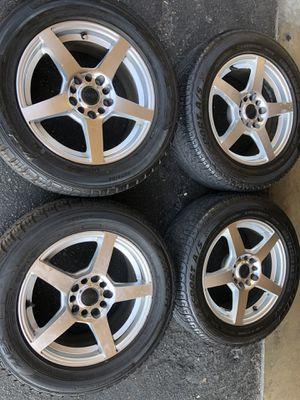 Rims tires 16 5x120 5x114.3 20 offset fit bmw Chevy camaro Honda Nissan Toyota infinity Lexus Mazda Scion Subaru for Sale in Santa Ana, CA