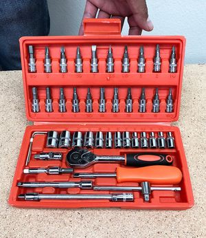 New in box $20 Tool Set 46pcs Socket Car Repair Ratchet Wrench Spanner Combination Hand Tools for Sale in Pico Rivera, CA