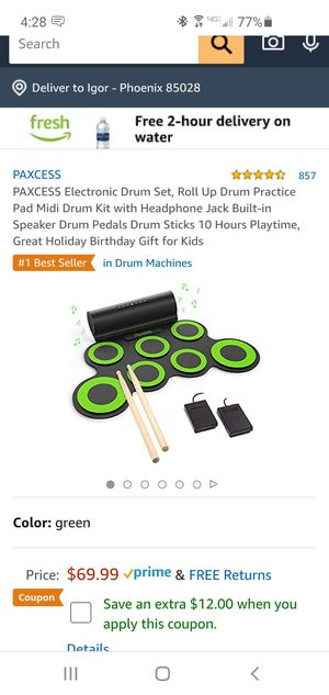 *Like New* Electronic Drum Set (Extra Sticks) for Sale in Phoenix, AZ
