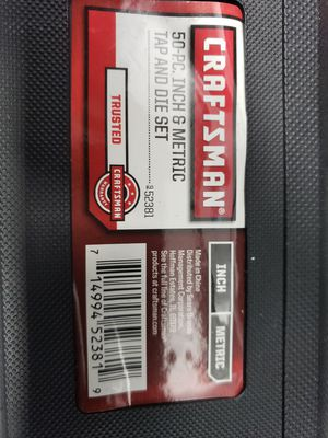 Tap and die set craftsman like new for Sale in Plano, TX