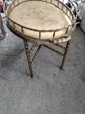 """Brass tray stand 25L 18""""H for Sale in Alexandria, VA"""