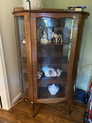 Antique Bow Front Curio for Sale in Fairfax, VA