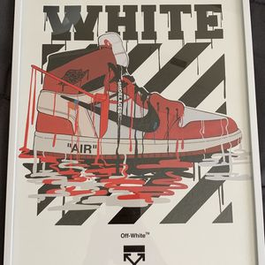 Nike Off-white Print And Poster In Glass Frame for Sale in West Covina, CA