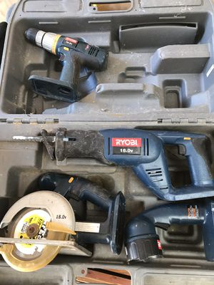 Ryobi 18V Power Cordless Tool Set for Sale in Hull, MA