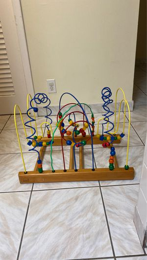 Bead Maze Wood Shapes- Wood toys for infant, toddler, kids for Sale in Hallandale Beach, FL