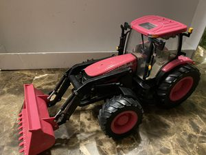 "Pink Big Farm Case IH Tractor With Loader Lights & Sounds ERTL. Measures 17"" long 8"" height. for Sale in IL, US"