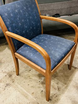 Nice Chair Blue & wood Thanks For Looking My Post Check My other Items for Sale in Fresno,  CA