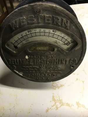 ANTIQUE WESTON AMPERES METER MADE BY RELIANCE INSTRUMENTS IN CHICAGO for Sale in White Hall, MD