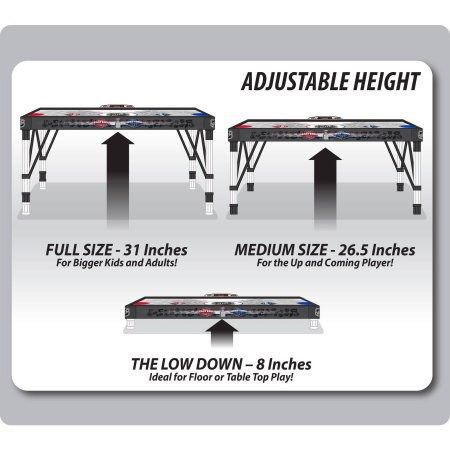 NHL 54-inch Adjust and Store Air Powered Hover Hockey Table