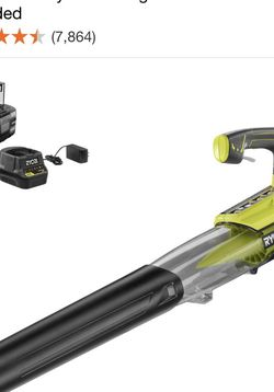RYOBI 100 MPH 280 CFM ONE+ 18-Volt Variable-Speed Lithium-Ion Cordless Jet Fan Leaf Blower 4.0 Ah Battery and Charger Included for Sale in Sloan,  NV