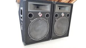 Set of Nady Audio PFW 15 Pro Power Series speakers for Sale in San Diego, CA