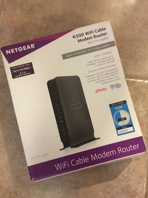 Netgear Wireless Gateway Cable Modem WiFi Router N300 for Sale in McKinney, TX