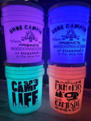 Camping/fishing LED buckets for Sale in Arnold, MO