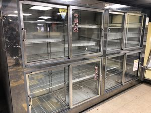 Glass door refrigerator/cooler, and wall cooler must go make offer for Sale in Westminster, MD