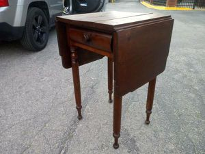 Mid 1800's Pembroke Drop-Side Table - Solid Mahogany Wood! for Sale in Raleigh, NC