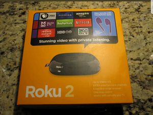 Roku 2 - unit, remote, power cord and box for Sale in Whiteford, MD