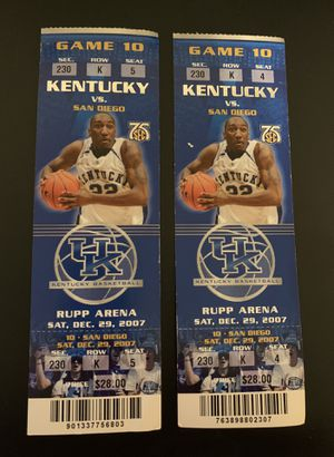 (2) Kentucky Wildcats vs San Diego 2007 Tickets for Sale in Franklin, TN