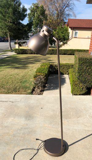 Gunmetal standing lamp 6 feet tall for Sale in Costa Mesa, CA