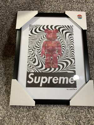 Supreme Fairchild Paris Bear Zebra Camo Reprint Picture Limited Numbered #62/100. Brand new 100% authentic Fast shipping for Sale for sale  Dundalk, MD