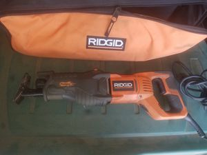 Ridgid saw saw with bag used only once for Sale in Upland, CA
