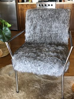 Mccardle faux fur chair for Sale in Culver City,  CA