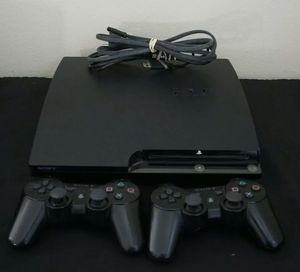 Sony PS3 Playstation 3 Slim CECH-2001B 250GB Console W/ 2 Controllers - Working for Sale in Woodinville, WA