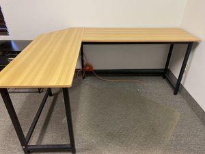 Wooden L-Shaped Desk for Sale in Las Vegas, NV