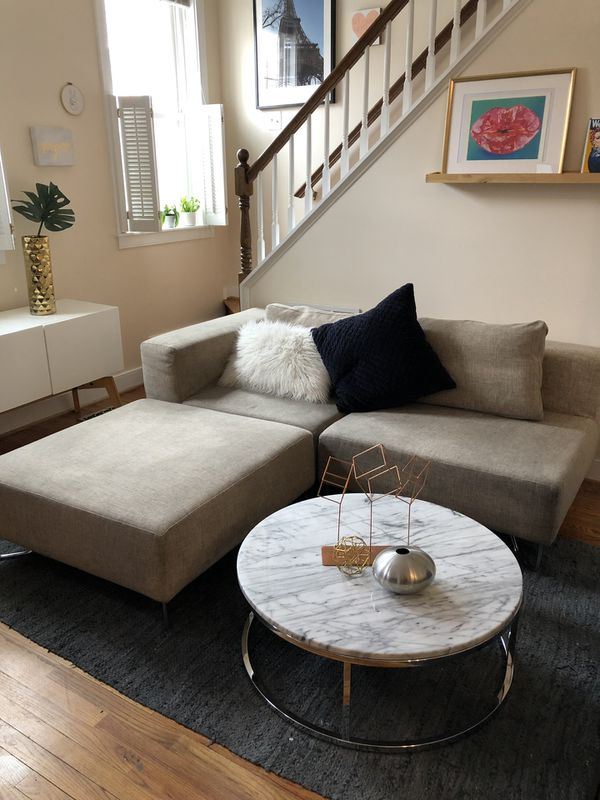 CB2 3-piece couch
