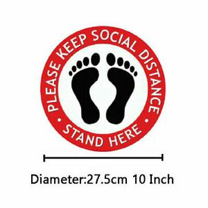 "10 x Social Distancing 10"" inches water prove Floor Vinyl Decal 6 Feet Stickers Fast shipping also available. for Sale in Los Angeles, CA"
