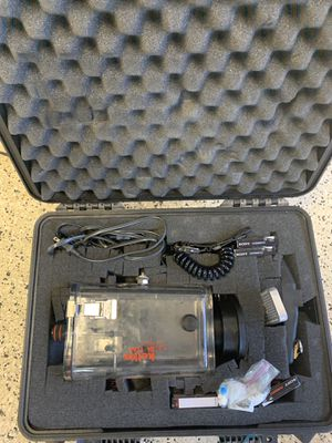 Sony Handycam video camera & underwater case and equipment (cases included) for Sale in Laguna Hills, CA