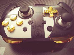 Nintendo Switch Pro Controller,🏆 Custom Gold & Smash Bros.! for Sale in Kent, WA